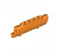 24119-4 Technic, paneel gebogen 7x3 met 2 gaten oranje NIEUW *