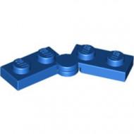 2429c01-7 Scharnierplaat 1x4 compleet (horizontaal 2 x 1x2) (loc 01-09) blauw NIEUW *1L300