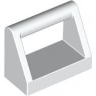 2432-1 Tegel 1x2 met hendel bovenop wit NIEUW *1L321
