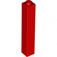 2453b-5G Steen 1x1x5 DICHTE nop rood gebruikt *5K0000