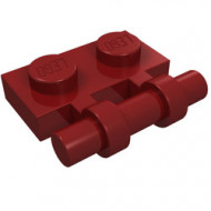 2540-59 Platte plaat 1x2 met OPEN hendel rood, donker NIEUW *1L293/8