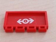 2873pb07-5G Klapdeurtje met scharnier treinlogo (wit) rood gebruikt *1L0000