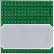 30225px1-6G Basisplaat 16x16 met weg groen gebruikt *4T000