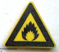 30261pb01-3 Waarschuwingsbord explosie CLIP ON Geel NIEUW loc