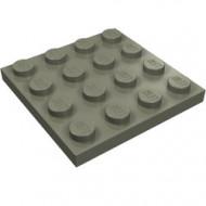 3031-10 Platte plaat 4x4 donker, grijs (klassiek) NIEUW *5K0000