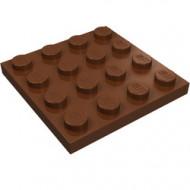 3031-88 Platte plaat 4x4 bruin, roodachtig NIEUW *5K0000