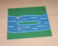309p2-6G Basisplaat 32x32 Eiland in rivier BASIS GROEN! groen gebruikt *3K000