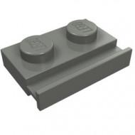 32028-85 Platte plaat 1x2 met deurrail grijs, donker (blauwachtig) NIEUW *1L316/5