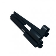 32188-11G Technic, Sierpaneel # 3 Large Long, Large Holes, Side A zwart gebruikt *4T070