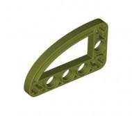32250-155 Technic, Hefbalk 3x5 met kwart elipse (raam) groen, olijf NIEUW *1D000
