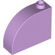 33243-154 Steen, 1x3x2 ronde top 90 graden massief lavender, licht NIEUW *1L112