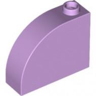 33243-154 Steen, 1x3x2 ronde top 90 graden massief lavender NIEUW *1L0000
