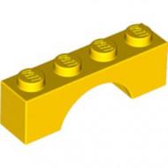3659-3G Steen, boog 1x4x1 hoog geel gebruikt *