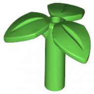 37695-36 Plant met 3 blaadjes op steel groen, helder NIEUW *0D019