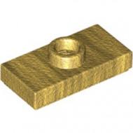 3794-115 Platte plaat 1x2 met 1 nop (loc 01-5) ZIE OOK 15573 goud, parel NIEUW *1L233/11