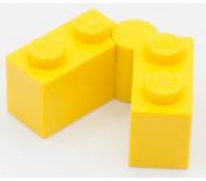 3830c01-3 Scharniersteen 1x4 compleet geel NIEUW *0D0000