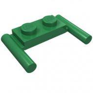 3839b-6 Platte plaat 1x2- 2 hendels lagere setting groen NIEUW *1L296/11