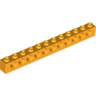 3895-110 Technic, steen 1x12 met 11 gaten oranje, lichthelder NIEUW *