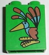 4066pb032-36 DUPLO steen 1x2x2 Paradijsvogel Groen, helder gebruikt loc