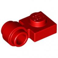 4081b-5 Platte plaat 1x1 met gesloten clip (dikke ring) rood NIEUW *1L289/5