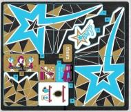 41106stk01 STICKER Pop Star Tour Bus NIEUW loc
