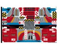 42098stk01 STICKER 42098 Car Transporter NIEUW loc