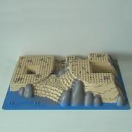 44510pb03-2 Basisplaat 32x48x6 Rotsen/water/zand crème NIEUW *1W000