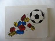 4515pb003-1G Dakpan 10 graden 6x8 Legostenen en voetbal (sticker) Wit gebruikt loc