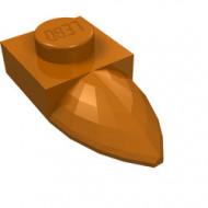 49668-68 Platte plaat 1x1 met tand IN VERLENGDE oranje, donker NIEUW *1L290/3