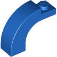 6005-7G Steen, boog 1x3x2 boven rond 1 nop bovenop blauw gebruikt *1L000