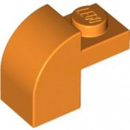 6091-4 Steen 2x1 met afgeronde kop en nop oranje NIEUW *1L0000