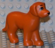 6201pb01-68 Hond zittend oranje, donker NIEUW *0D000
