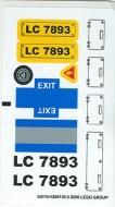7893.1stk01 STICKER Passanger Plane NIEUW loc