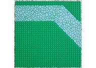 4478px2-6G Wegenplaat 32x32 pad met keien Groen gebruikt loc