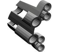 32190-77 Technic, Sierpaneel # 1 Large Short, Large Holes, Side A Grijs, donkerparel NIEUW loc