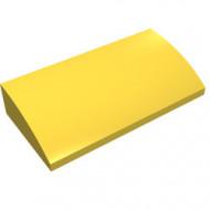88930-3G Dakpan gebogen 2x4x2/3 geen noppen, MET bodemtubes geel gebruikt *1L281