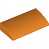 88930-4 Dakpan gebogen 2x4x2/3 geen noppen, MET bodemtubes oranje NIEUW *1L281