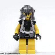 cas298 Knights Kingdom II- Dracus gele benen, zwart harnas met zilveren motief NIEUW loc