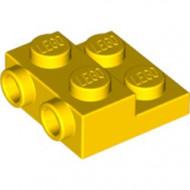 99206-3 Platte plaat 2x2x2/3 met 2 noppen zijkant geel NIEUW *1L0000