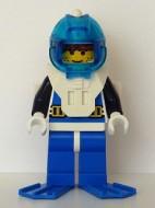 aqu001aG Aquanaut 1 met blauwe flippers gebruikt loc