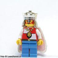 cas060G Royal Knights - King, met cape and blauw benen gebruikt loc