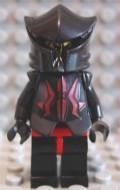 cas256G Vladek Minifig zwart masker, zwarte helm, zwart borstharnas met rode strepen gebruikt loc