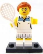 col03-10 Tennisspeler met racket en standaard NIEUW *0M0000