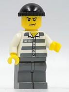cty0100G Gevangene gestreept hemd, zwarte pet gebruikt *0M0000