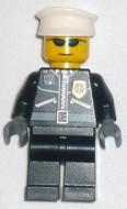 cty0174G Politie-agent, twee ritsen, zilveren zonnebril, witte pet gebruikt *0M0000