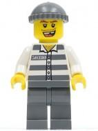 cty0253G Politie- Boef met gestreept shirt, donkerblauwgrijze broek gebruikt *0M0000