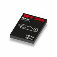 CUS1058 Formule 1 circuit Spanje wit NIEUW *0A000