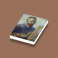 CUS4010 Tegel 2x3 Zelfportert- Vincent van Gogh wit NIEUW *0A000