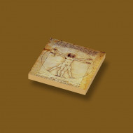 CUS4013 Tegel 2x2 De mens van Vitruvius- Leonardo Da Vinci wit NIEUW *0A000