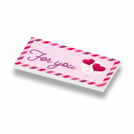 CUSE8170 Valentijn- For You liefdesbrief 1x2 Wit *0A000